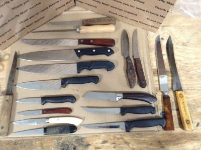 Mixed Lot Vintage Kitchen Knives - Includes an OLD HICKORY