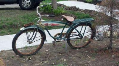 $300 1950s Columbia Tank Bike Vintage Boys Bike