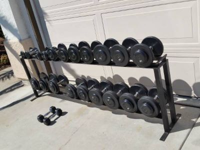 Gym dumbbells weights