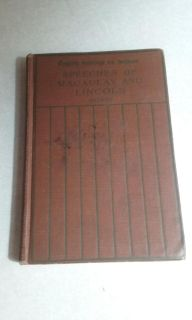 1915 vintage book English readings for schools speeches of