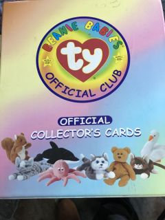TY Beanie Baby Collectors Catds