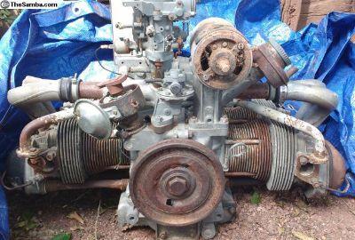 1600cc Dual Port seized motor w UNIVERSAL Case