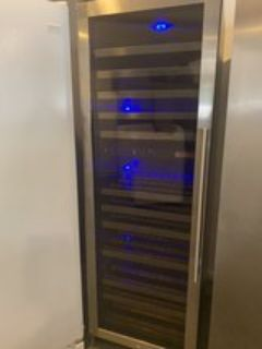 Beautiful stainless steel wine cooler