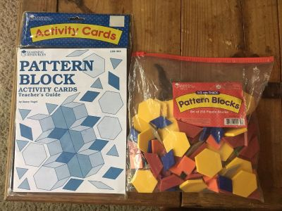 Pattern blocks and activity cards