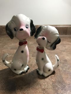 Vintage Salt and Pepper Dalmatian Dogs