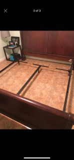 King bed frame , head and foot board