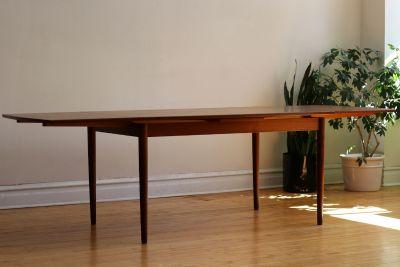 Mid Century Modern Danish Teak Dining Table