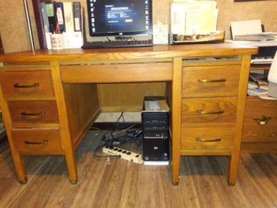 Antique Oak Desk