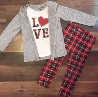 Size 4t Outfit - Love Shirt w/jacket