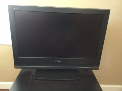 "Hitachi L26A01A 26"" Multi-System LCD TV Table Top Stand Remote Control"
