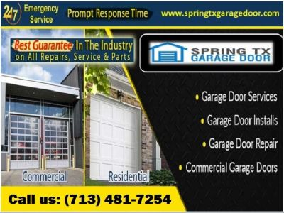 Residential Garage Door Spring Repair company in Spring, TX