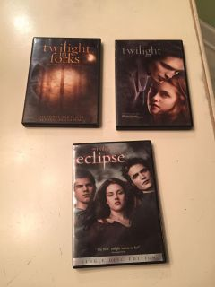 Twilight, Eclipse & Twilight in forks movies
