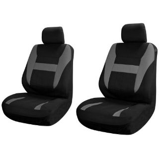 Buy SUV Van Truck Seat Covers for Front Bucket Seats Black / Grey 6pc w/Head Rest motorcycle in Van Nuys, California, United States, for US $15.67