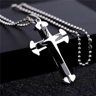 Titanium Cross Pendant Chain Necklace - Black NEW High Quality, made with Titanium Comes with a Nice Chain