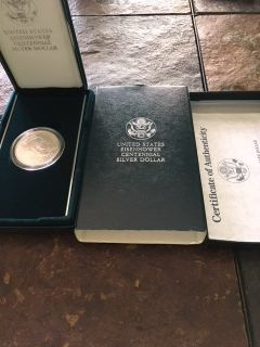 1990 Ike Silver Commemorative