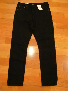 NWT Womens Levi Straight Leg Black Skinny jeans with button fly size 32x30 (about size 12-14)