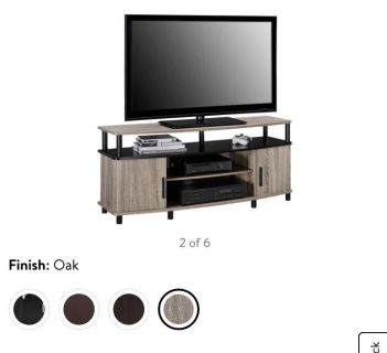 """Carson TV Stand, for TVs up to 50"""""""