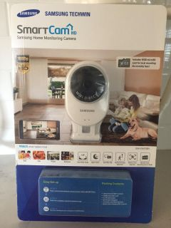 Brand new never opened Samsung SmartCam security camera/monitor. Watch live on your phone, computer or IPad. Night vision. 2 way talk.