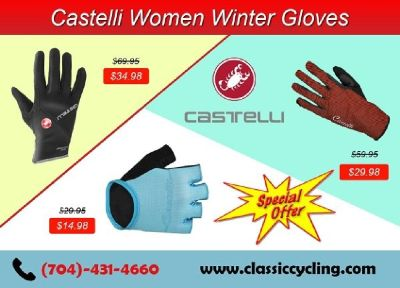 Women Apparel - Castelli Winter Gloves by Classic Cycling