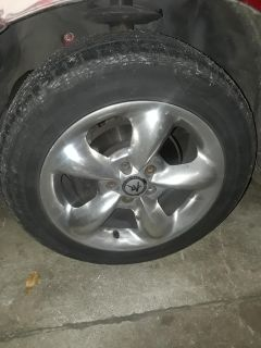 Set of 4 wheels with tires