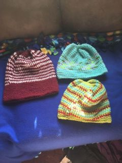 Extra large knitted hats
