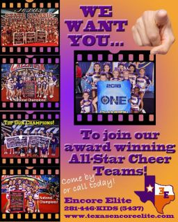 All-Star Cheer Teams Forming Now