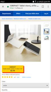 Ikea tablet stand
