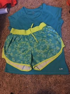 Champion athletic wear. Both size large. Excellent condition.