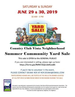 Community Yard Sale - JUNE 29 & 30TH -..