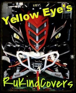 Find 2016 Yamaha Raptor 700/450/350 YELLOW EYES HeadLight Covers RuKind ALL YEARS motorcycle in Medina, Ohio, United States, for US $18.00