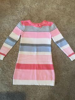 Gymboree striped sparkle sweater dress size 6, a couple of faint marks on sleeve