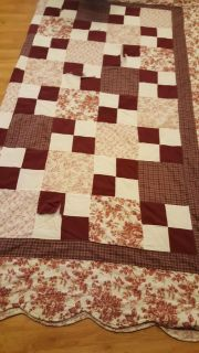 Very nice full to queen size quilt. Needs stitching in some areas as shown.