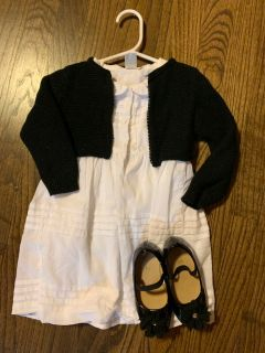 Cat and jack 18m black cropped cardigan