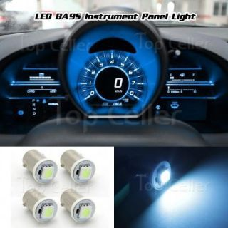 Find 4x Ice Blue BA9S LED Dash Instrument Panel Cluster Gauges Clock Ash Tray Light motorcycle in Milpitas, California, United States