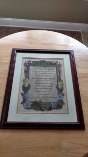 """Beautiful wood framed picture measures 22 1/2"""" by 18 1/2"""""""