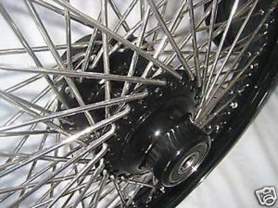 "Buy 18"" X 3.50"" & 18"" X 5.50""-80 SPK WHEELS HARLEY BLACK PC FLSTF 2008-2015 FATBOY motorcycle in Huntington Beach, California, United States, for US $825.99"