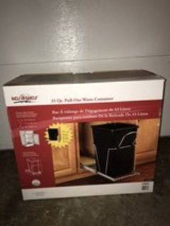 Pull out garbage can for inside a cabinet