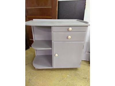 CABINET, WOOD CABINET WITH SHELVING, ANN SLOAN ...