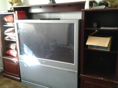 cherry oak entertainment center