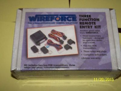 Buy VINTAGE AUTOMOTIVE ELECTRICAL PARTS WIREFORCE 3 FUNCTION REMOTE ENTRY KIT motorcycle in Paris, Tennessee, United States