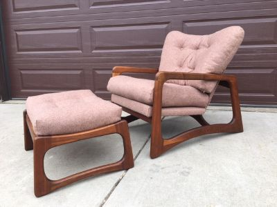 Adrian Pearsall 2466 C Chair and Ottoman