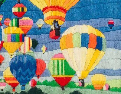 Aviation Vintage Needlework Hot Air Balloons