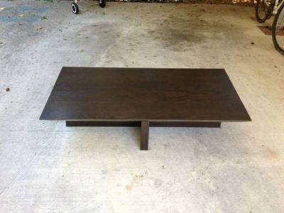 West Elm coffee table - dark  brown - modern