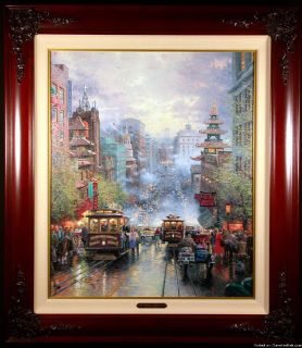 A View Down California Street from Nob Hill (Artist's Proof by Thomas Kinkade)