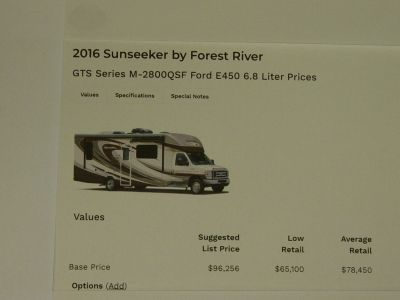 2016 Forest River SUNSEEKER GTS 2800QS