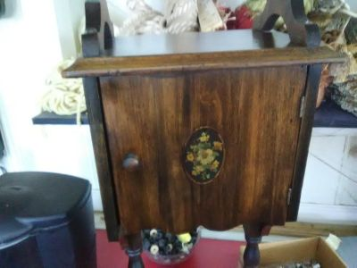 Antique smoke cabinet