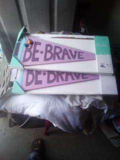 Children's decor be brave banners