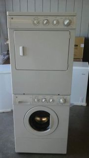 GE stackable or side by side large capacitywasher and dryer