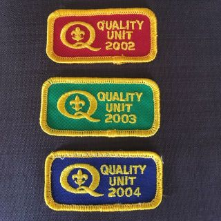 Lot of 3 Boy Scout Quality Unit patches
