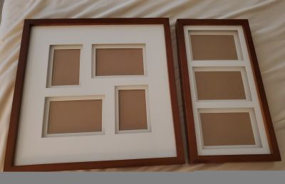 Nice Cherry Collage Wall Picture Frames. Mattes give 3D effect. $20 for Both!